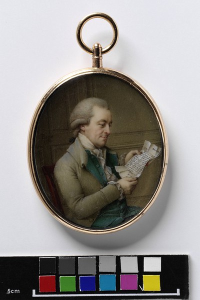 Portrait of the Dutch Governor of Trincomalee by John Bogle (1780) from the V&A